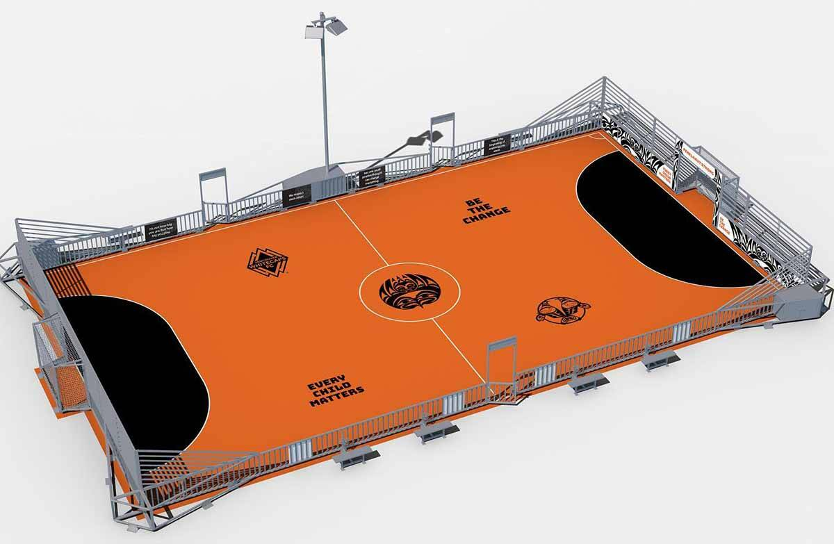 The Penelakut mini pitch will be painted by late spring 2022 to bring it to completion. (Submitted)