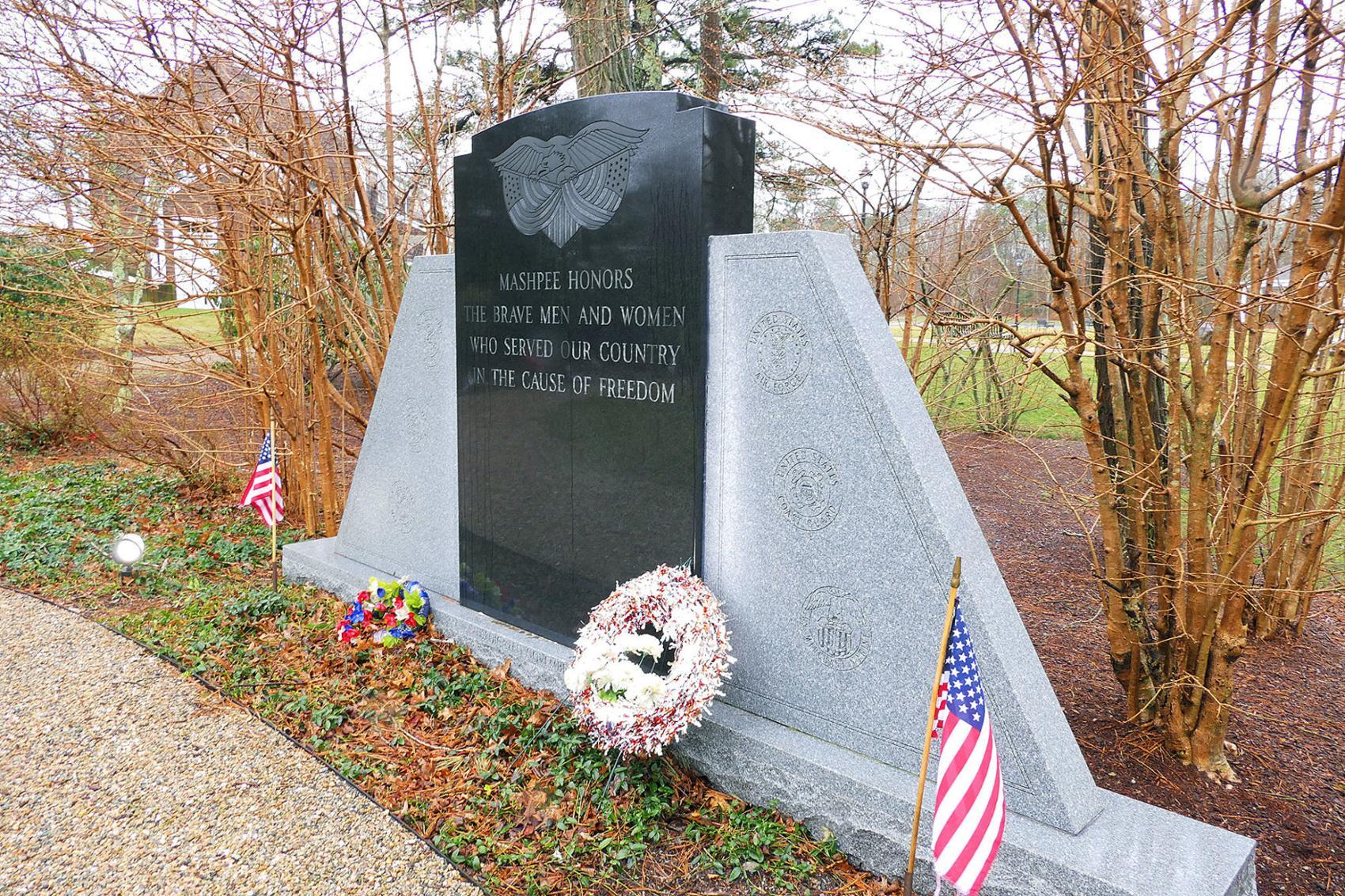 Mashpee War Memorial In Veterans Garden