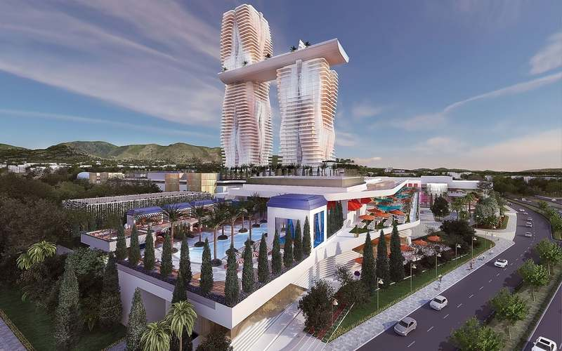 A rendering of Mohegan Gaming & Entertainment's proposed Inspire Athens integrated resort, part of the redevelopment of the former Hellinikon airport in Athens, the capital of Greece. (Courtesy of Mohegan Sun)