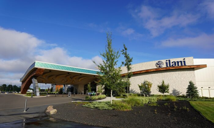 The Ilani Casino, which is operated by the Cowlitz Indian Tribe, is located near Ridgefield, Wash., on Aug. 2, 2020. (Steven Baltakatei Sandoval via Wikimedia Commons/CC BY-SA 4.0)