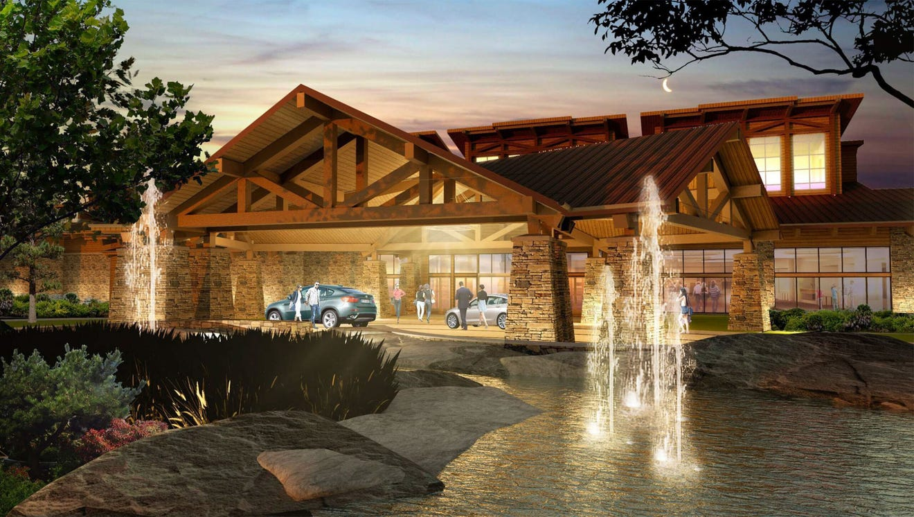 A rendering of the new Eagle Mountain Casino, which broke ground in Porterville on April 6, 2021.